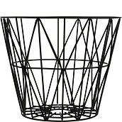 Ferm Living Basket black metal