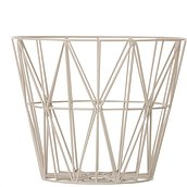 Ferm Living Basket light grey metal
