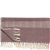 Hübsch Throw blanket striped tasseled