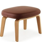 Era Footstool on wooden legs