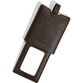 Stackers Luggage identifier clasp rectangular brown