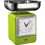 Retro Kitchen scale with clock